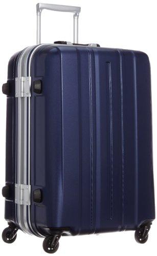 [サンコー] SUNCO 軽量スーツケース SUPER LIGHTS 57cm 57L 3.5kg マグネシウムフレーム HINOMOTOキャスター TSAロック (エンボスネイビー)SMGE-57