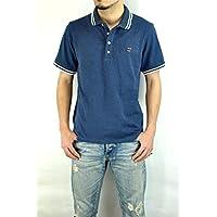 ジーアールエヌ(grn)GU421139Y 綿鹿の子ワンポイント刺繍POLOシャツ ラインポロシャツ S/Sポロ  半袖ポロシャツ