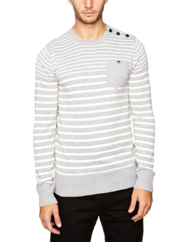 Gio Goi Kamble Men's Jumper Grey Marl Small