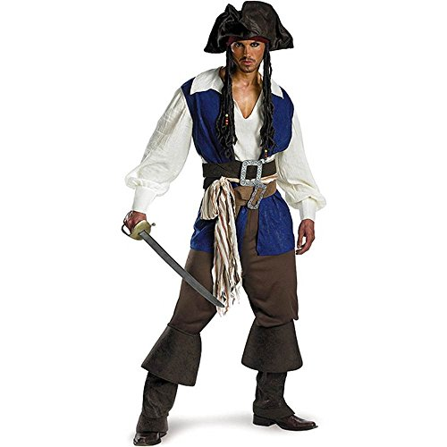 Captain Jack Sparrow Deluxe Adult Costume - 42-46