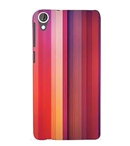 Colourful Lines Pattern 3D Hard Polycarbonate Designer Back Case Cover for HTC Desire 820 :: HTC Desire 820 Dual Sim :: HTC Desire 820S Dual Sim :: HTC Desire 820q Dual Sim :: HTC Desire 820G+ Dual Sim