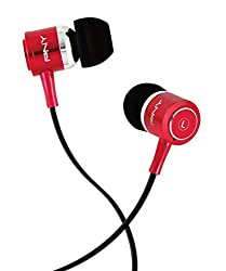 PNY Trendy Series CS002 In-Ear Stereo Headphones for Apple iPhone/iPod and MP3 (Red)