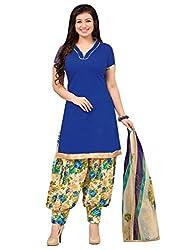 Applecreation Blue | cotton dress materials for women low price PARTY WEAR new collections Salwar Suit Kameez
