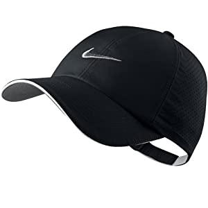 nike s perforated cap black white