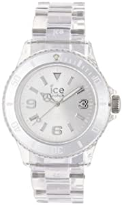 ICE-Watch - Montre Mixte - Quartz Analogique - Ice-Pure - Silver - Unisex - Cadran Gris - Bracelet Plastique Transparent - PU.SR.U.P.12