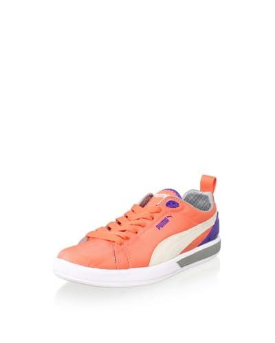 PUMA Women's Future Suede Lite Sneaker  - Fluo Peach/Liberty B