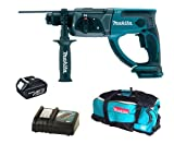 Makita 18V LXT BHR202 BHR202Z BHR202Rfe Sds Hammer Drill, BL1830 Battery, DC18RC Charger And LXT600 Bag