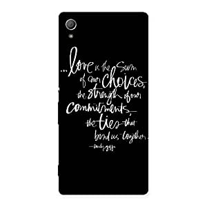 Quote of Love Back Case Cover for Xperia Z3 Plus