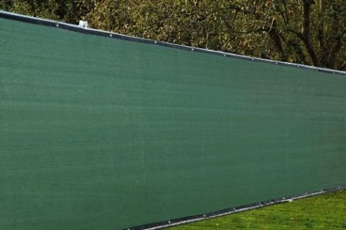 Aleko 6 x 50 feet dark green fence privacy screen outdoor for 8 foot high outdoor privacy screen