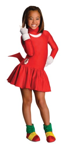 [Sonic The Hedgehog Girls Knuckles Costume, Medium] (Sonic Hedgehog Costume Rental)