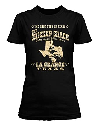 ZZ Top La Grange Chicken Shack T-shirt, Womens, Small, Black