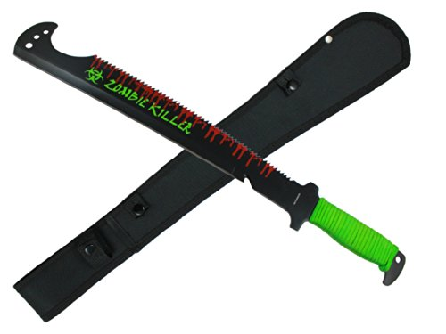 "13"" Zombie Machete With Nylon Sheath"
