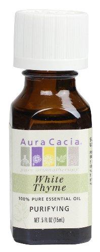 Aura Cacia Essential Oil, Purifying White Thyme, 0.5 Fluid Ounce