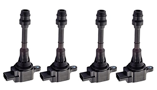 Pack of 4 Ignition Coils for Nissan Altima Sentra X-Trail L4 2.5L Compatible with UF-350 22448-8H310 C1398 (Nissan Xtrail 2003 Parts compare prices)