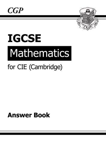 IGCSE Maths CIE (Cambridge) Answers (for Workbook)