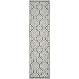 Safavieh Courtyard Collection CY7938-78A18 Light Grey and Anthracite Indoor/ Outdoor Runner, 2 feet 3 inches by 8 feet (2\'3\