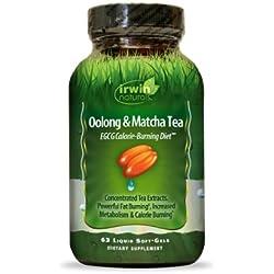 Irwin Naturals Oolong and Matcha Tea, 63 Count