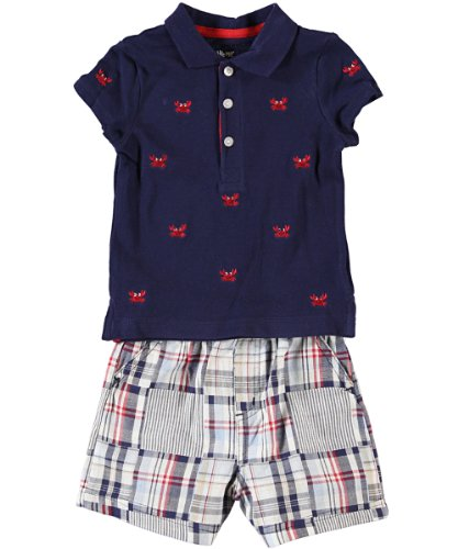 Little Me Baby-Boys Infant Crab Woven Short Set, Blue, 12 Months