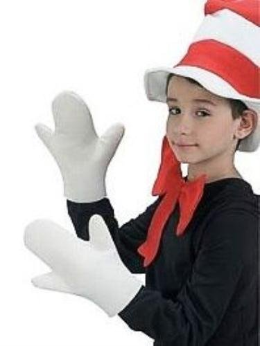 The Cat in the Hat Costume Movie Mitts
