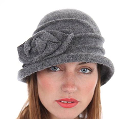 New Womens Ladies Warm Wool Rose Cloche Winter Thermal Fashion Hat