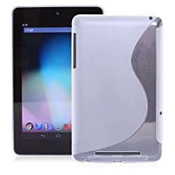 KaysCase S-Line TPU Case Cover for Google Nexus 7-Inch Tablet Android 4.1 Jelly Bean (Clear)