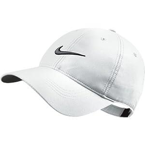Nike Men's Tech Swoosh Cap - White/Black, One Size