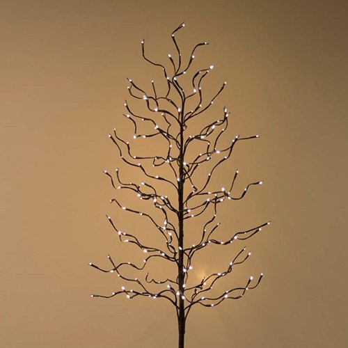 Bending Tree Branch - Brown - 112 Warm White LED Lights - 3 feet