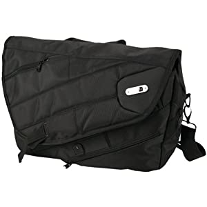 Powerbag Messenger Bag with Battery for Charging Smartphones, Tablets and eReaders, Black (RFAP-0080F)