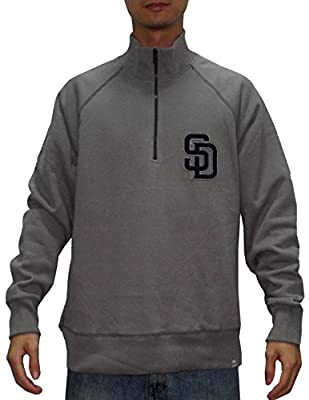 MLB SAN DIEGO PADRES Mens 1/4 Zip Pullover Thermal Sweatshirt