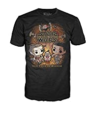 Funko Men's Star Wars - Rey and Finn Running, Black, Large
