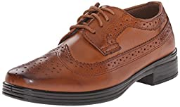 Deer Stags Ace Dress Wing-Tip Oxford, Luggage, 13.5 M US Little Kid