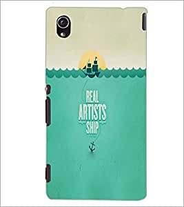 PrintDhaba Quote D-2998 Back Case Cover for SONY XPERIA M4 AQUA (Multi-Coloured)