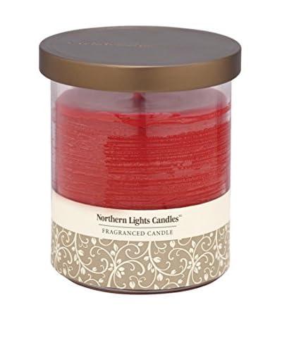 Northern Lights 14-Oz. Glass Pillar Candle, Cinnamon Stick