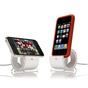 Sinjimoru Sync and Charge Dock Stand for iPhone 4S, 4, 3GS (Color Option: WHITE)
