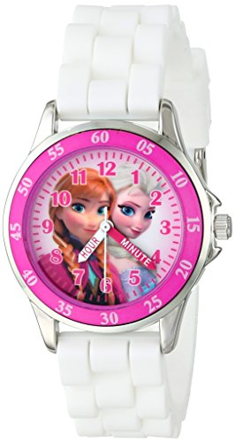 Disney (Disney) kids ' Frozen Ana and the snow Queen stainless steel watch white parallel import goods