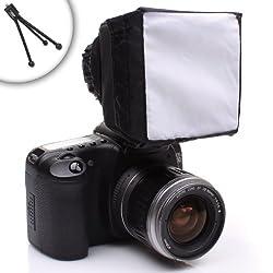 Pop-Up Soft Box External Flash Diffuser with Mini Tripod for Nikon D3200 , D5100 , D7000 and Many More Nikon Digital SLR Cameras