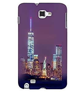 Printvisa Newyork Night View Back Case Cover for Samsung Galaxy Note i9220::Samsung Galaxy Note 1 N7000