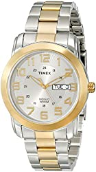 Timex Men's T2N439 Elevated Classics Casual Stainless Steel Watch With Two-Tone Bracelet