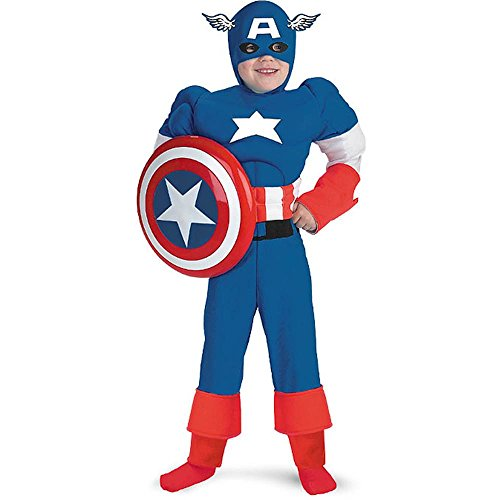 Captain America Quality Muscle Kids Costume