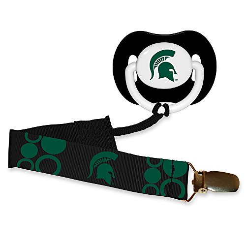 Baby Fanatic Pacifier with Clip - Michigan State University