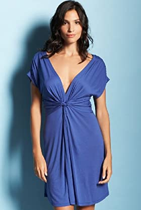 Deep V-Neck Cover Up Beach Dress-Marks & Spencer :  beach dress marks spencer beachwear