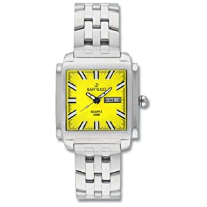 Men's Square Sartego Land Master Watch Yellow Dial