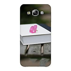 Ajay Enterprises White Book N Rose Back Case Cover for Samsung Galaxy E5
