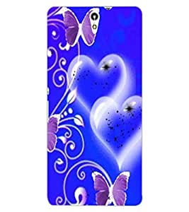 ColourCraft Heart and Butterfly Design Back Case Cover for SONY XPERIA C5 ULTRA