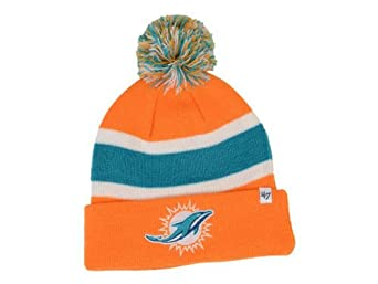 NFL Miami Dolphins Mens Breakaway Knit Cap, One Size, Orange by