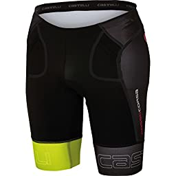 Castelli Free Tri Short - Men\'s Black/Yellow Fluo, XXL