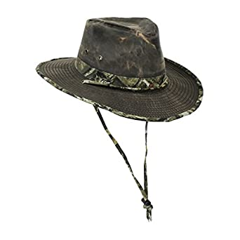 Weathered Cotton Outback Sun Hat for Men, Water Repellent: Clothing