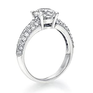 Diamond Engagement Ring 1 1/2 ct, J Color, VS1 Clarity, Certified, Round Cut, in 18K Gold / White