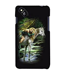 printtech Unicorn Angel Back Case Cover for MicromaxBolt D303