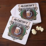 Personalized Pub Coasters Set - Neighborhood Pub